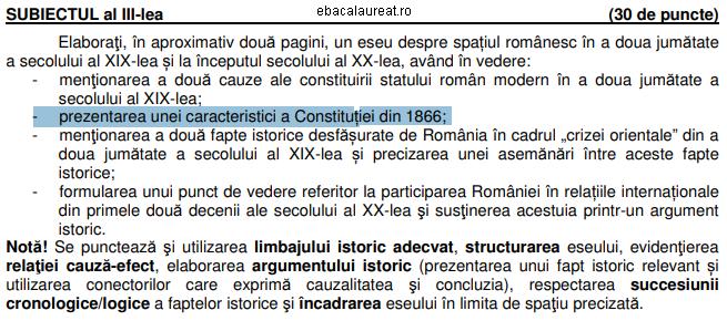 subiectul III istorie bacalaureat 2015 varianta 8