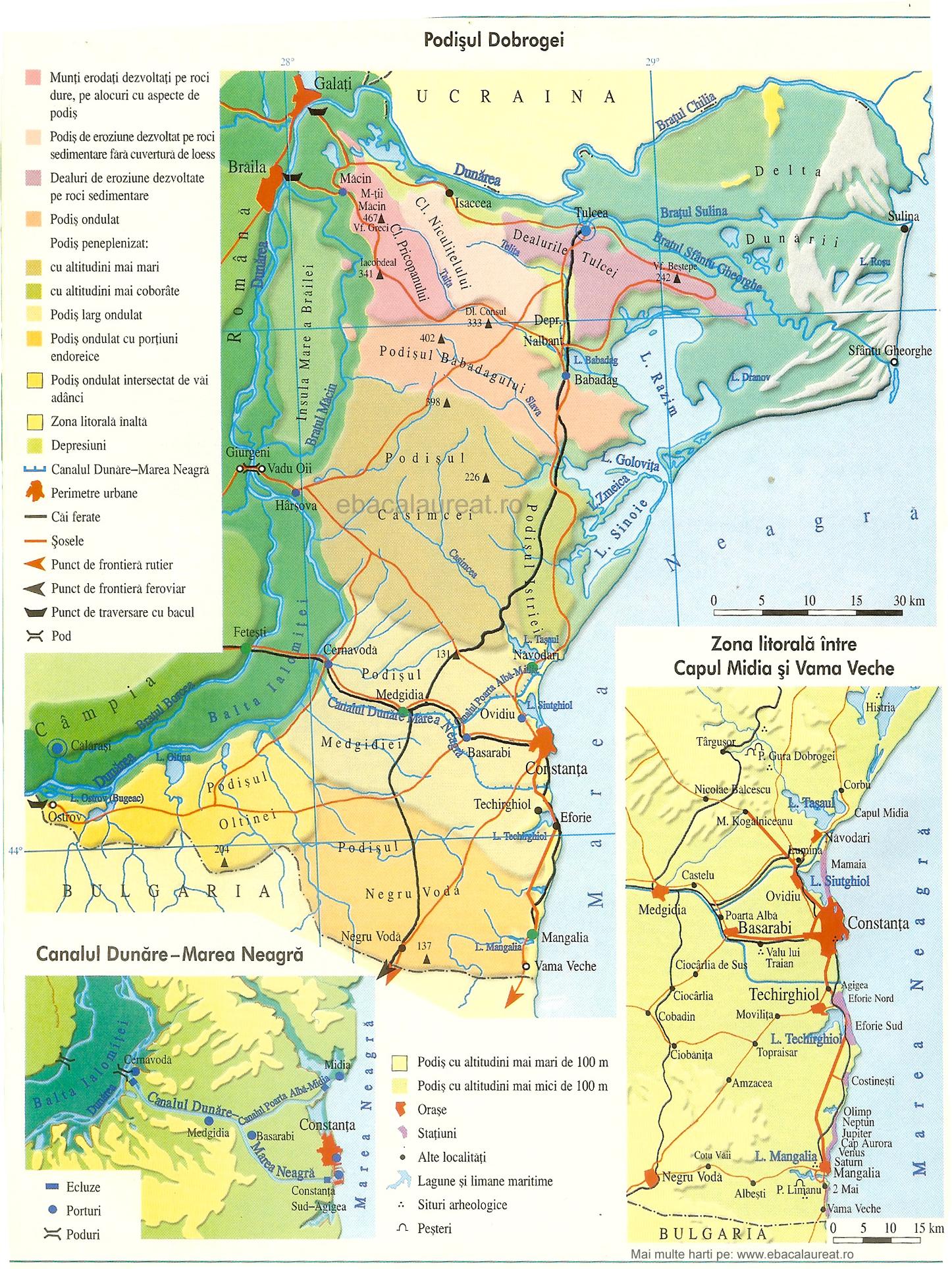 Harta Podisul Dobrogei