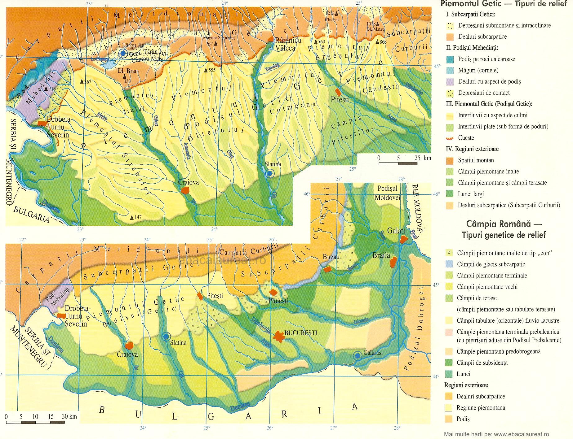 Harta Podişul Getic